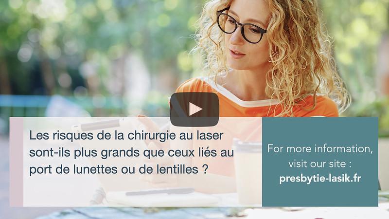 Les risques de la chirurgie au laser sont-ils plus grands que ceux liés au port de lunettes ou de lentilles ?-Catherine Albou-Ganem-Presbytie-lasik-paris